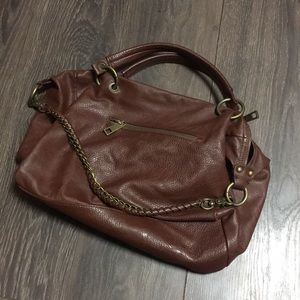 Forever 21 Brown Faux Leather Chain Bag